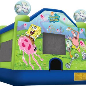 Full Face Sponge Bob Bouncer