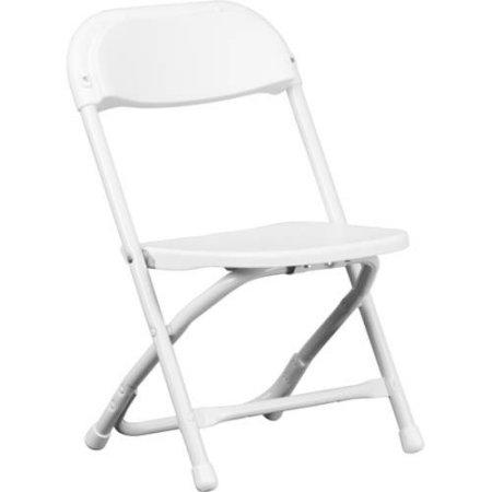 Kids White Folding Chairs