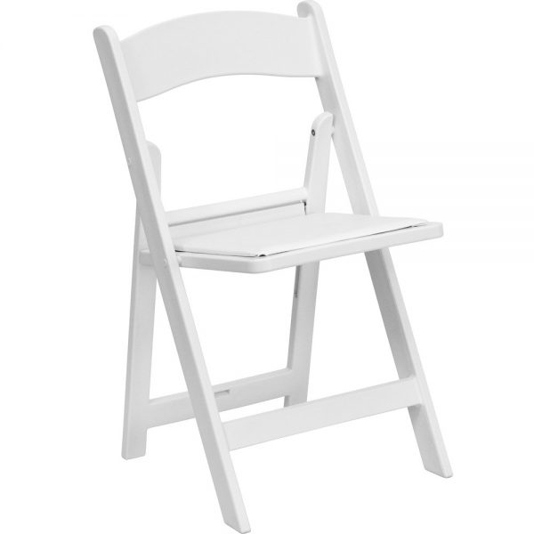White Resin Plastic Folding Chairs